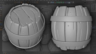 Model and Sculpt a Stylized Barrel | Cinema 4D Modeling and Sculping Tutorial