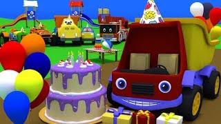 Скачать Грузовик Тема празднует свой день рождения Друзья Темы подарят ему разные подарки