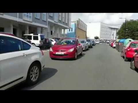Una caravana de vehículos para protestar contra el cierre de Endesa en As Pontes