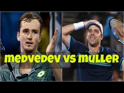 Daniil Medvedev vs Gilles Muller   Highlights