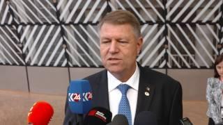 22 iunie 2017 - Declarația președintelui Klaus Iohannis la sosirea la Consiliul European (Bruxelles)