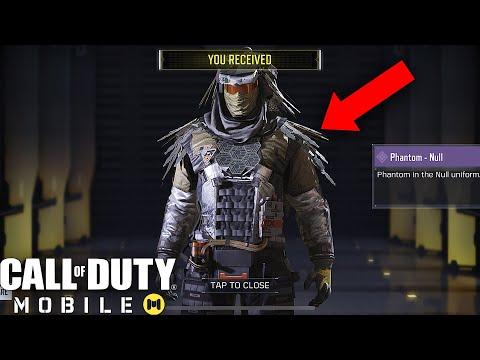 Call of Duty Mobile - UNLOCKING EPIC PHANTOM NULL CHARACTER SKIN!