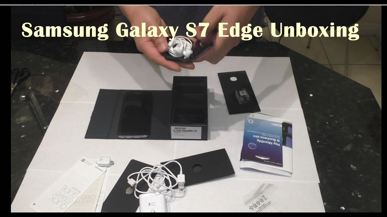 Samsung Galaxy S7 Edge Unboxing From O2