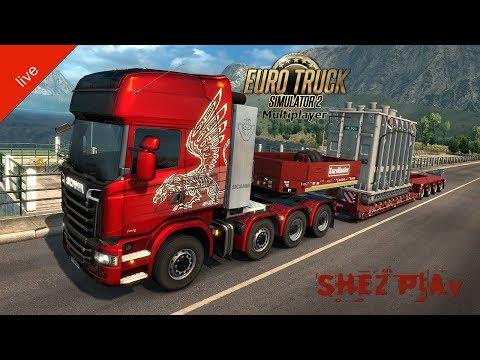 Euro Truck Simulator 2. Multiplayer. Негабаритный Груз. 18+