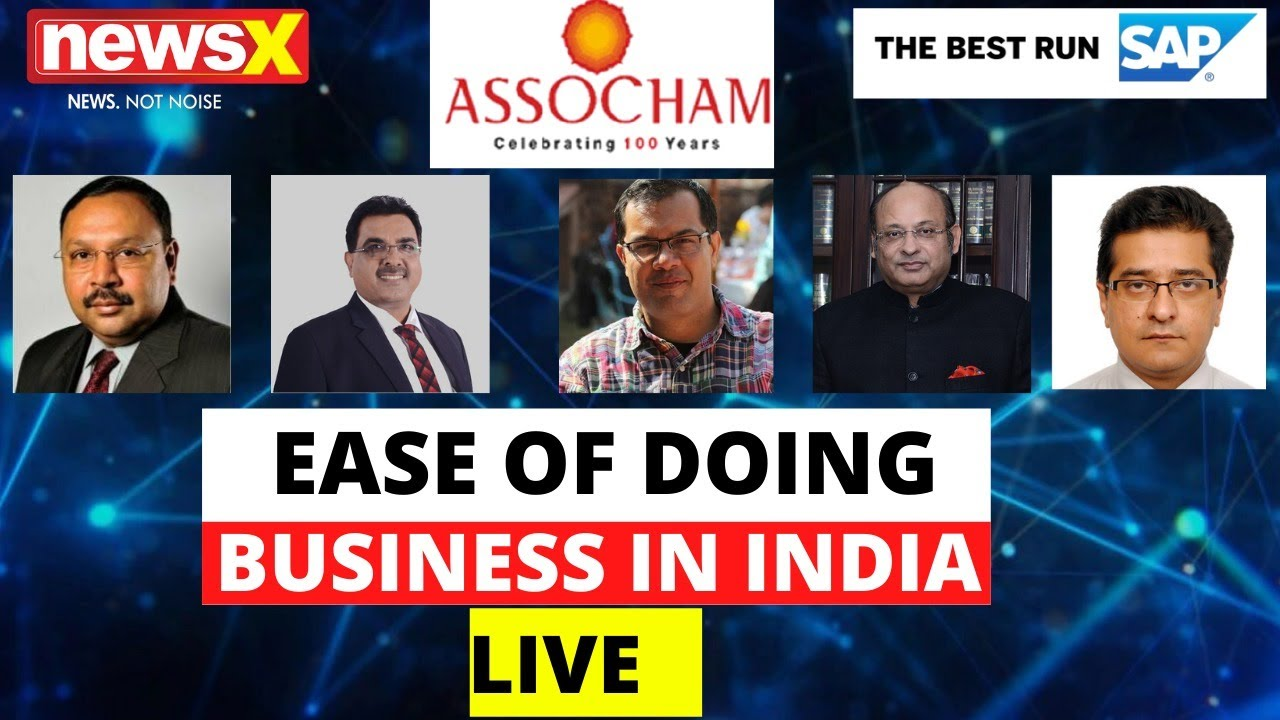 Live Top Industry Leaders On Ease Of Doing Business In India Live Newsx Youtube