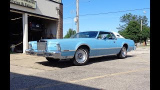 1976 Lincoln Continental Mark IV Givenchy Edition & Engine Sound on My Car Story with Lou Costabile