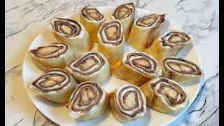 Блины с Тройной Начинкой / Роллы из Блинов / Roll Pancakes / Блинные Роллы / Масленица
