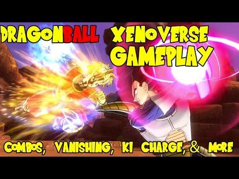 Dragon Ball Xenoverse Gameplay: Afterimage Combos, Cutscene Super Attacks, Ki Charge, & more!