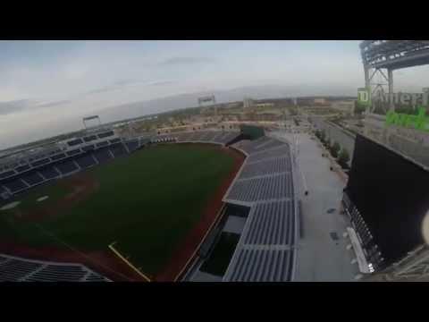 Downtown Omaha drone test flight