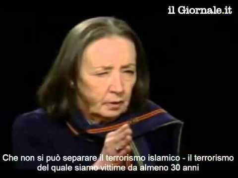 ORIANA FALLACI: IL TERRORISMO ISLAMICO #IONONHOPAURA