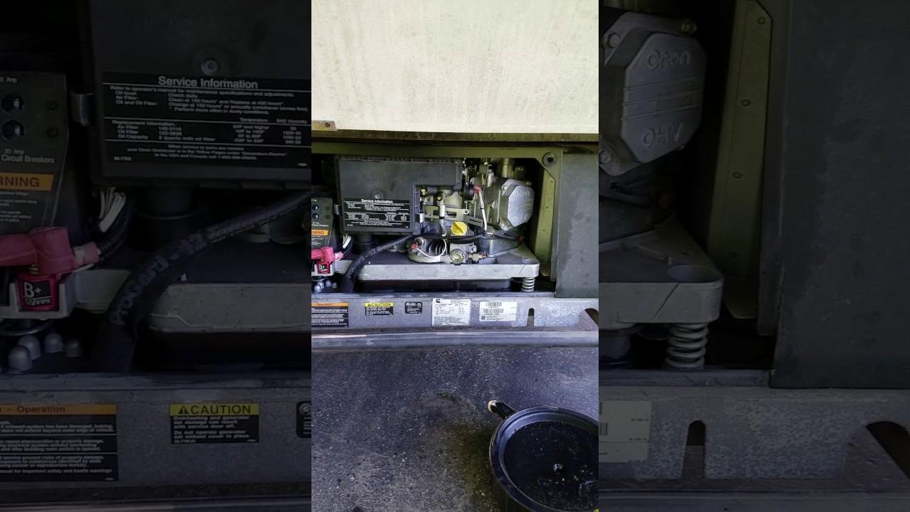 Rv Generator Before Carb Cleaning Youtube Generators Circuit Breaker