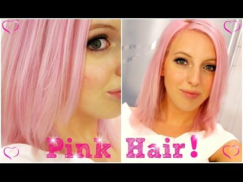 Pink Hair Transformation From Blonde To Pastel Pink