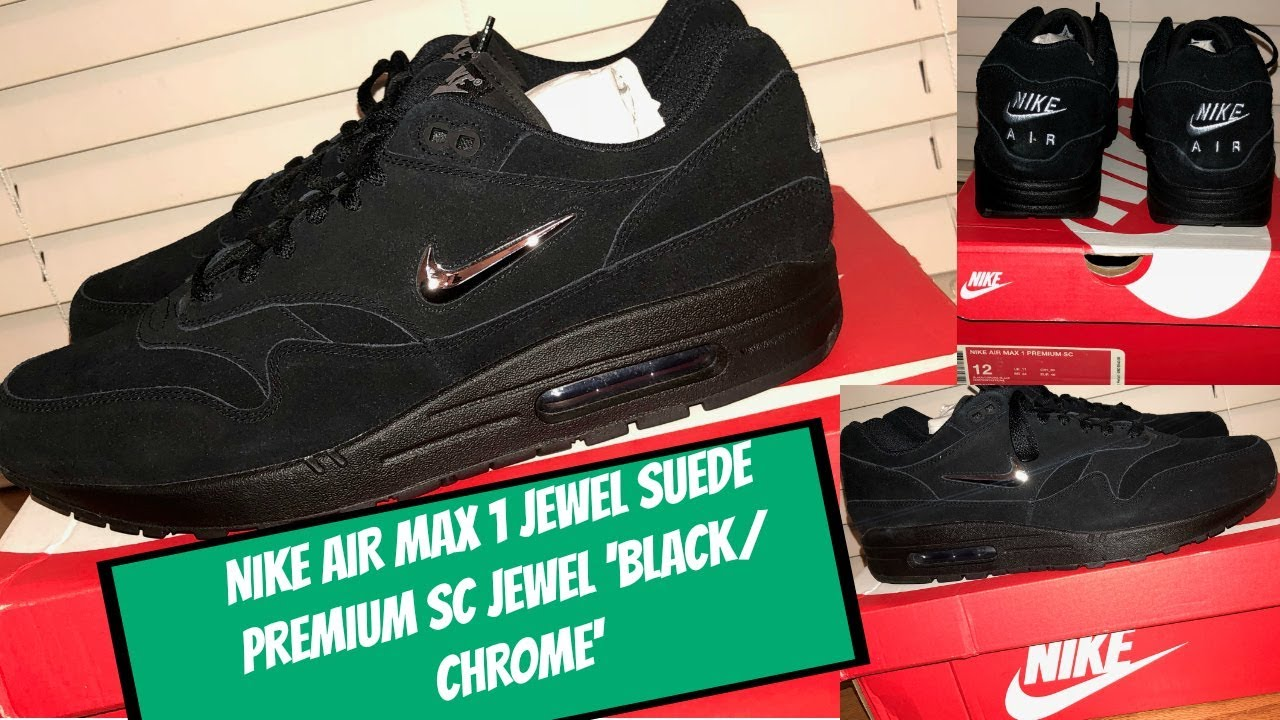 online store d3612 55993 Nike Air Max 1 Premium SC Jewel Black  Chrome  SLEEPER