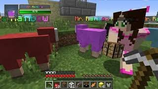 New PopularMMOs Pat vs Jen Minecraft: OUTCAST CHALLENGE GAMES - Lucky Block Mod - Modded Mini-Game