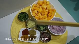 Pumpkin Fry Recipe - Kaddoo Sabzi Fry Curry - कद्दू Vegan