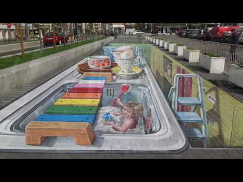 3D Street painting Roeselare