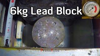 Crushing Lead Block to Lead Pancake