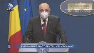 Stirile Kanal D(11.05.) - Evenimente-pilot pentru vaccinati! Masca de protectie ramane obligatorie!