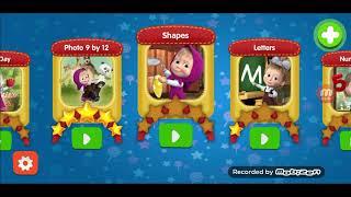 lets play with masha funny games learning games kids video