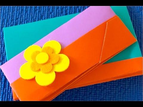 Как сделать кошелёк из бумаги видео