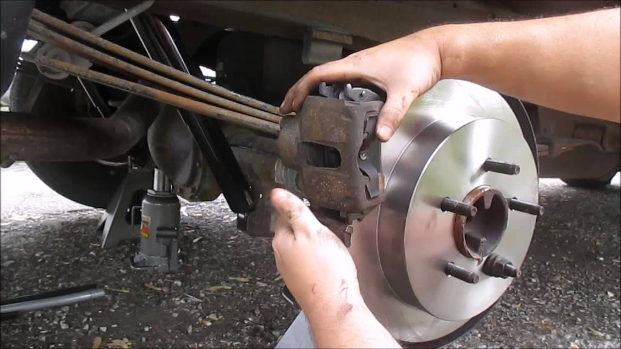 how to change rear rotors and brake pads on a ford f150 [ 1280 x 720 Pixel ]