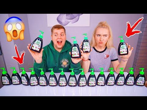 не выбирай ДЕГТЯРНОЕ МЫЛО СЛАЙМ ЧЕЛЛЕНДЖ 🤡 Лизун из случайных ингредиентов Soap Slime Challenge