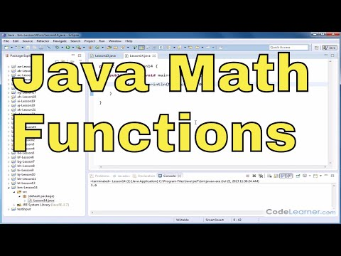 Java Tutorial - 14 - Rounding Numbers, Ceiling, And Floor (Math Functions)