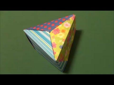 ハート 折り紙:三角折り紙-youtube.com