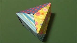 「三角の箱」折り紙