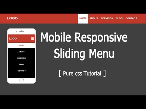 Media queries Responsive Sliding Menu Navigation Bar with HTML, CSS and jquery thumbnail
