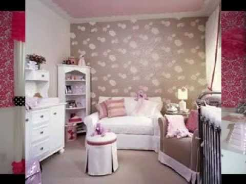 wallpaper design ideas for baby girls room - YouTube