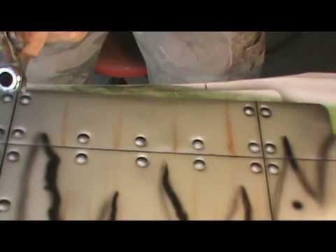 How To Airbrush Sheet Metal And Rivets Part 3 Youtube