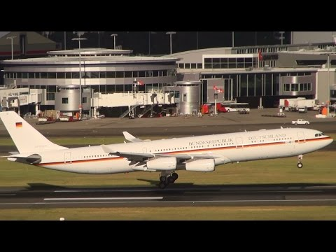 BundesRepublik Deutschland - German Air Force One (Angie 1) A340-300 landing Sydney Airport