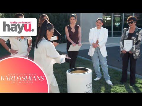 The Kardashian Family Fills Up Their Time Capsule | Season 20 | Keeping Up With The Kardashians