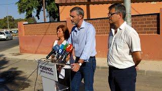 Podemos Región de Murcia denuncia que 900 niños estén hacinados en barracones