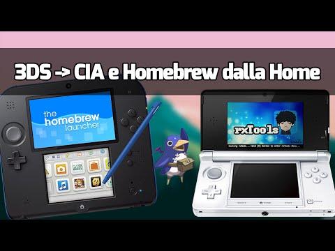 Convertire 3DS in file CIA e Homebrew Launcher dalla Home