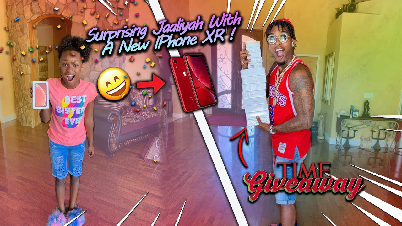 I Surprised J'aaliyah With a New iPhone XR! - YouTube