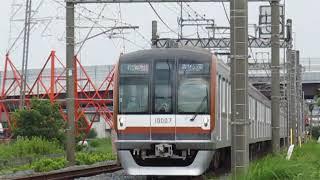 東京メトロ10000系10107F「Fライナー」 川越市~霞ヶ関間高速通過