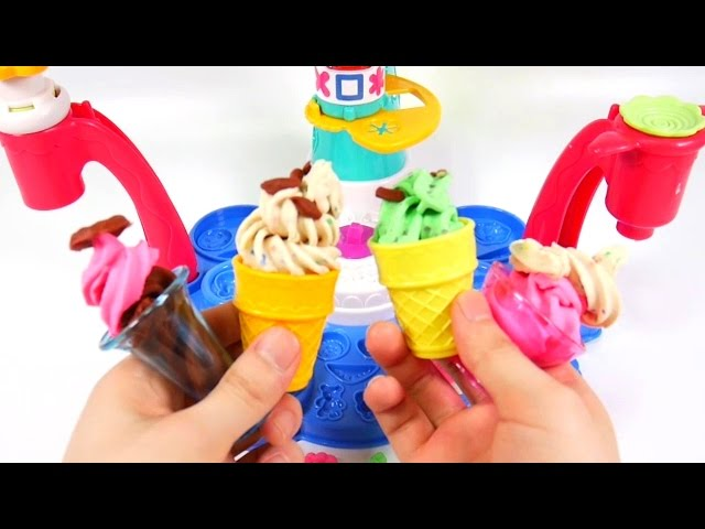 ?Play Doh? DIY Magic Swirl Ice Cream Shoppe Hasbro Playset Unboxing Toys Review Swirl Machine