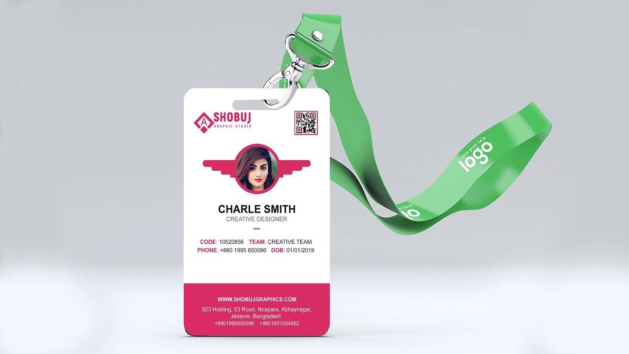 Company ID Card Design Tutorial - Photoshop CC 2019