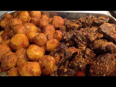 Prato Tradicional dos nossos Açores Carne Assada com Batata como minha Mãe fazia Antigamente !
