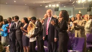 """Trump visits black church in Detroit: I'm here """"to listen"""""""