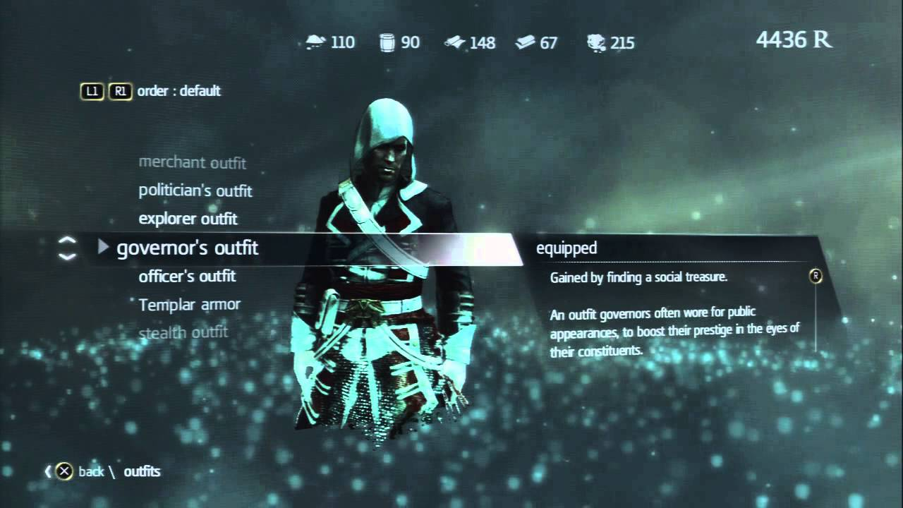 Assassins Creed 4 Black Flag S All Outfits Youtube