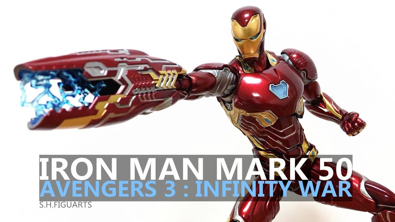 KO S.H.Figuarts SHF Toy Marvel Avengers Infinity War Iron Man Mk50 Action Figure