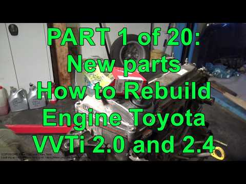 How to Rebuild Toyota VVTi Engine with New Piston Rings and
