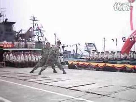 中国侦察兵格斗展示 Chinese soldiers fighting show