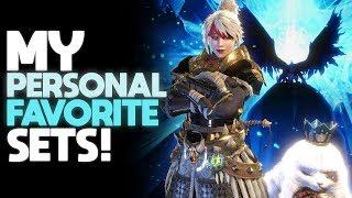 *MY FAVORITE MELEE SETS!* Best Endgame Mixed Sets   Monster Hunter: World