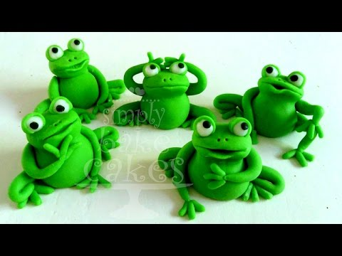 Fondant Frog Cake Topper Youtube