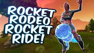 *NEW ROCKET RODEO* ROCKET RIDE SNIPE On Fortnite Battle Royale! (FIRST TRY)