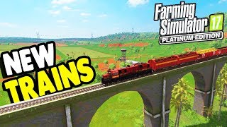EPIC New Trains & SOUTH AMERICAN MAP | Farming Simulator 17 Gameplay